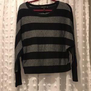 BCBGMax black and grey striped sweater